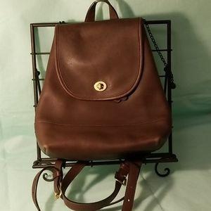 Coach vintagr leather mini backpack